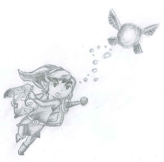 Simple Drawing Of Link And Navi  Link_a10