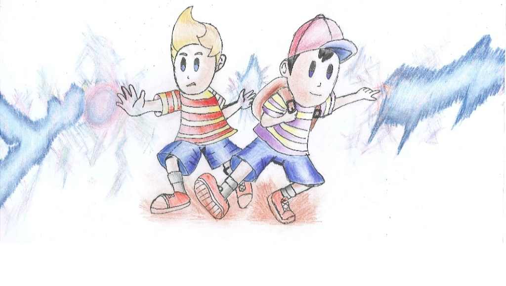 My Colorful Drawing Of Lucas And Ness Untitl10