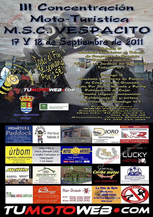 Concentraniones para el mes de Septiembre 2011. Cartel25