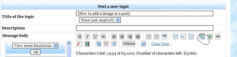 {How to add a Image to a post} 1110