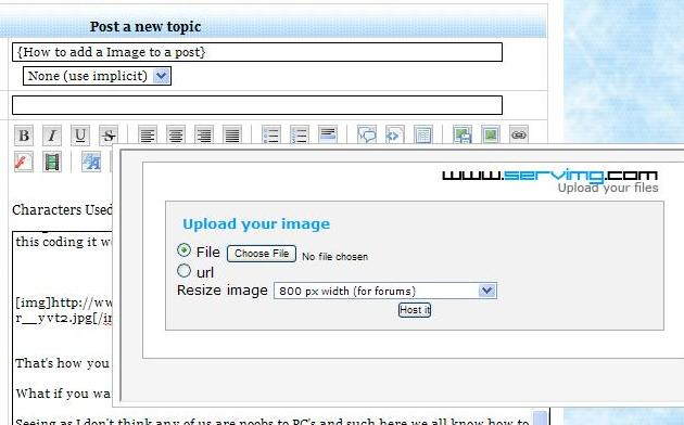 {How to add a Image to a post} 1211