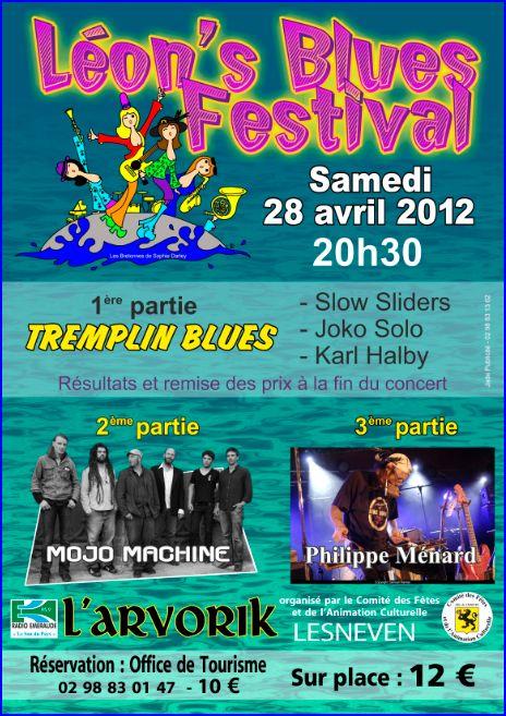 Affiche Léon's Blues Festival Affich10