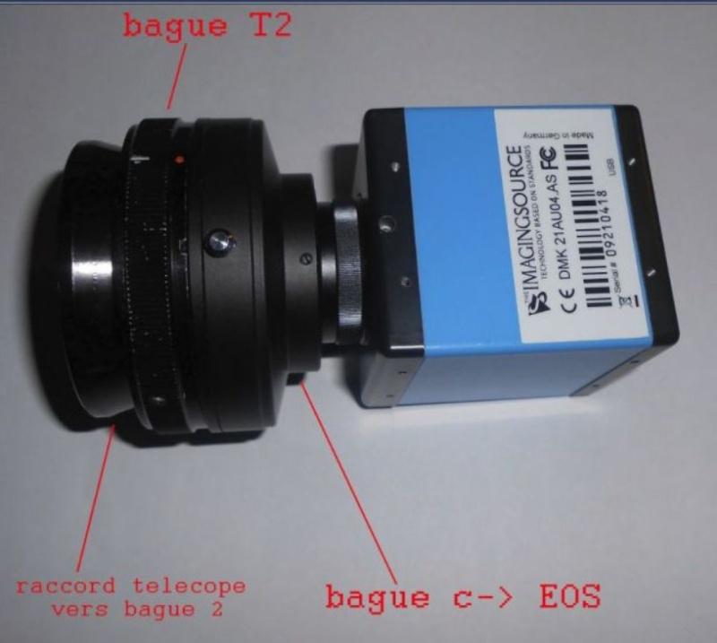jonction DMK 41  et televue powermate X5  Captu167