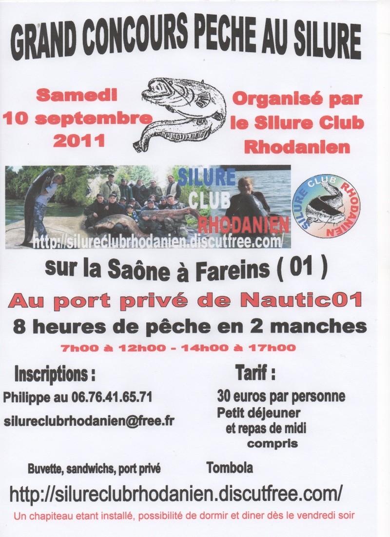 Concours Silure sur la Saône dans l'Ain Affich11