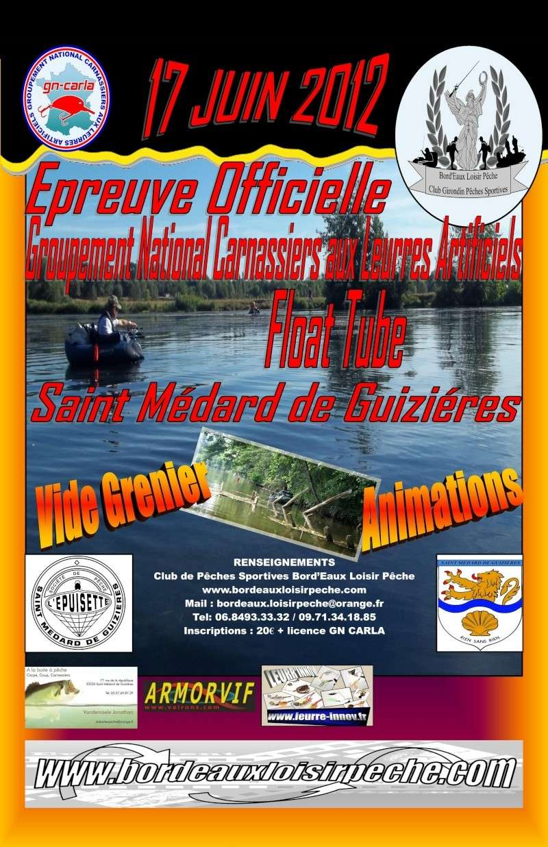 EPREUVE OFFICIELLE GN CARLA FLOAT TUBE GIRONDE 2012: C'est parti!!!! Affich15