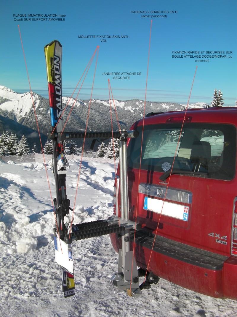 Attelage porte vélo + benne a ski Sany0016