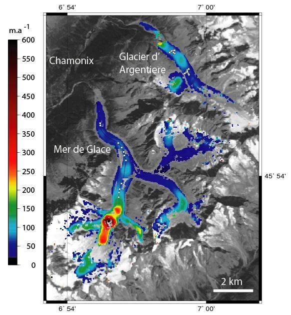 Vitesse d'écoulement de nos glaciers Vit_mt10