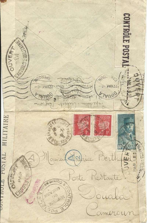 Lettre de France pour Douala Douala10