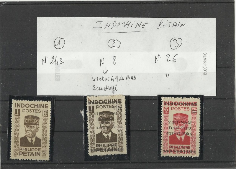 Documentation timbres Pétain Indochine Patain14