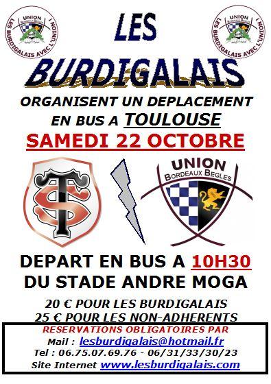 """Déplacement """"Burdigalais"""" à Toulouse le Samedi 22 Octobre 2011 - Page 2 Affich15"""