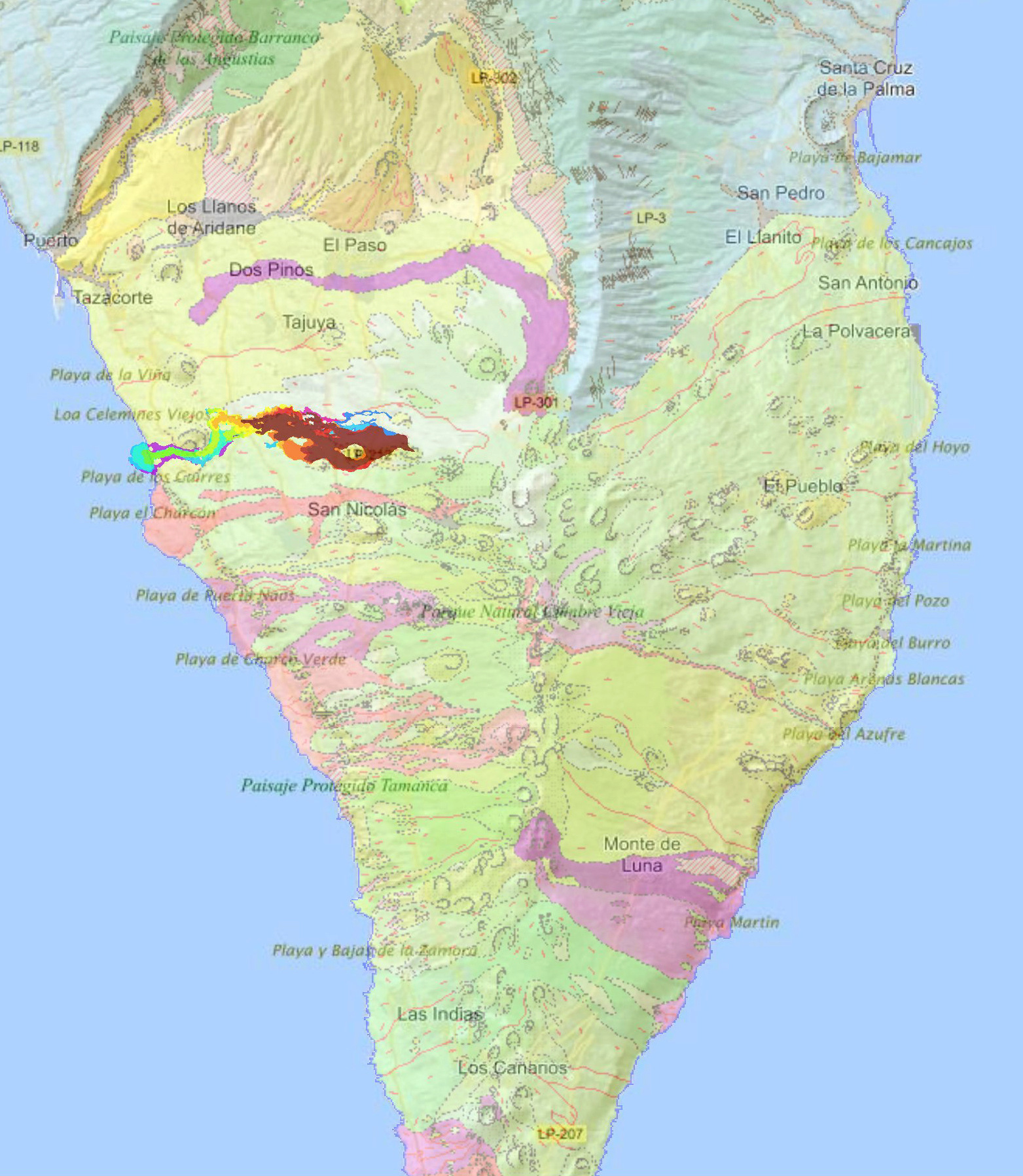 Eruption du volcan Cumbre Vieja - Ile de Palma - Canaries 20211011