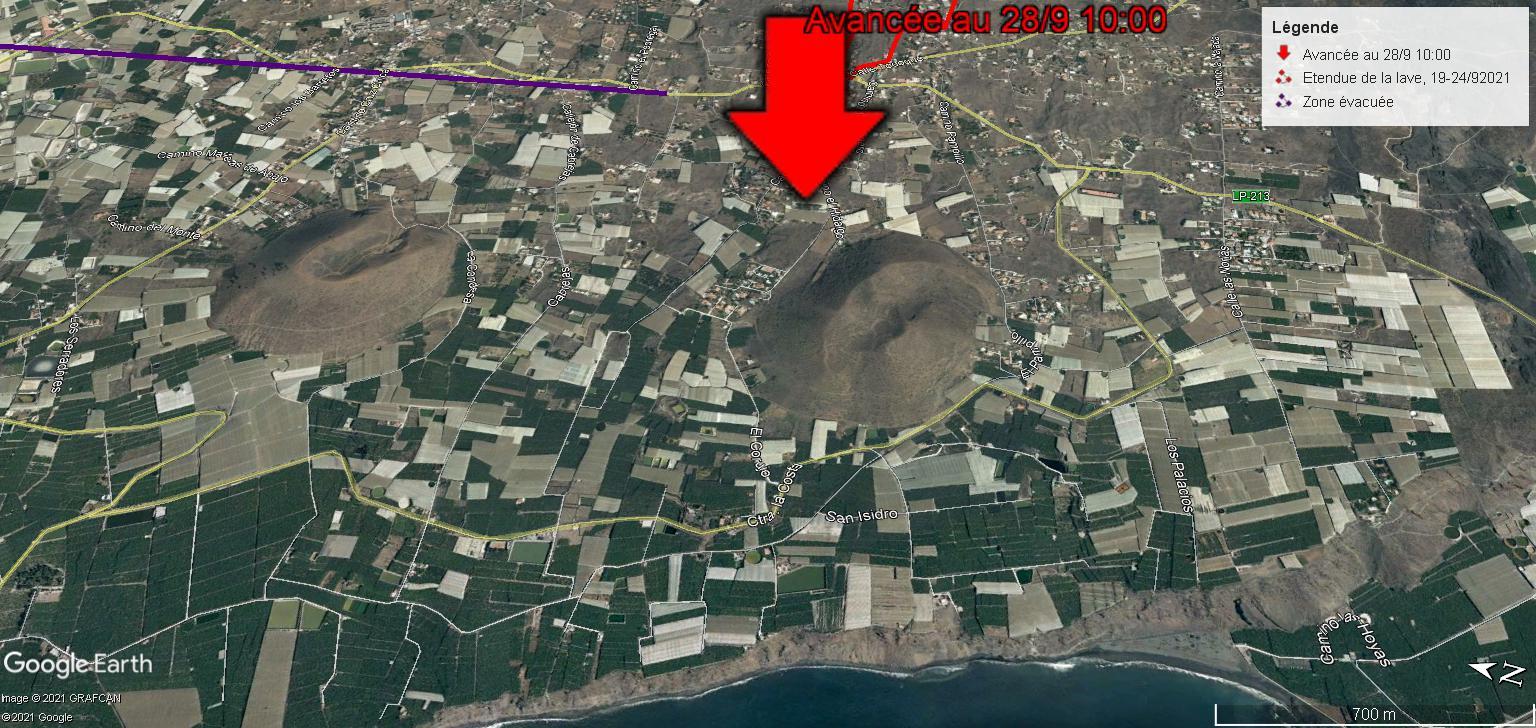 Eruption du volcan Cumbre Vieja - Ile de Palma - Canaries 28-09-10