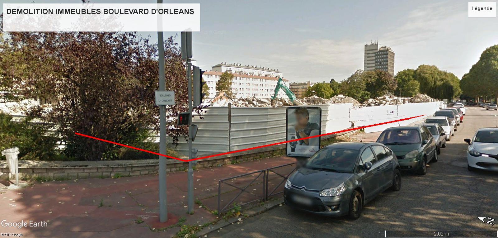 [Bientôt visible sur Google Earth] - Rouen - Démolitions Boulevard d'Orléans et Ligne de tramway T4 Bdo10