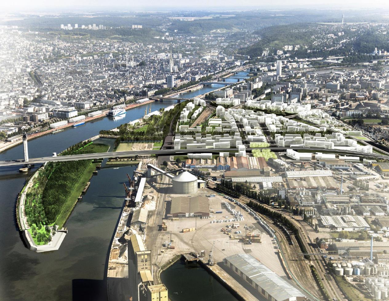 [Bientôt visible sur Google Earth] - Rouen - Ecoquartier Flaubert Birdey10
