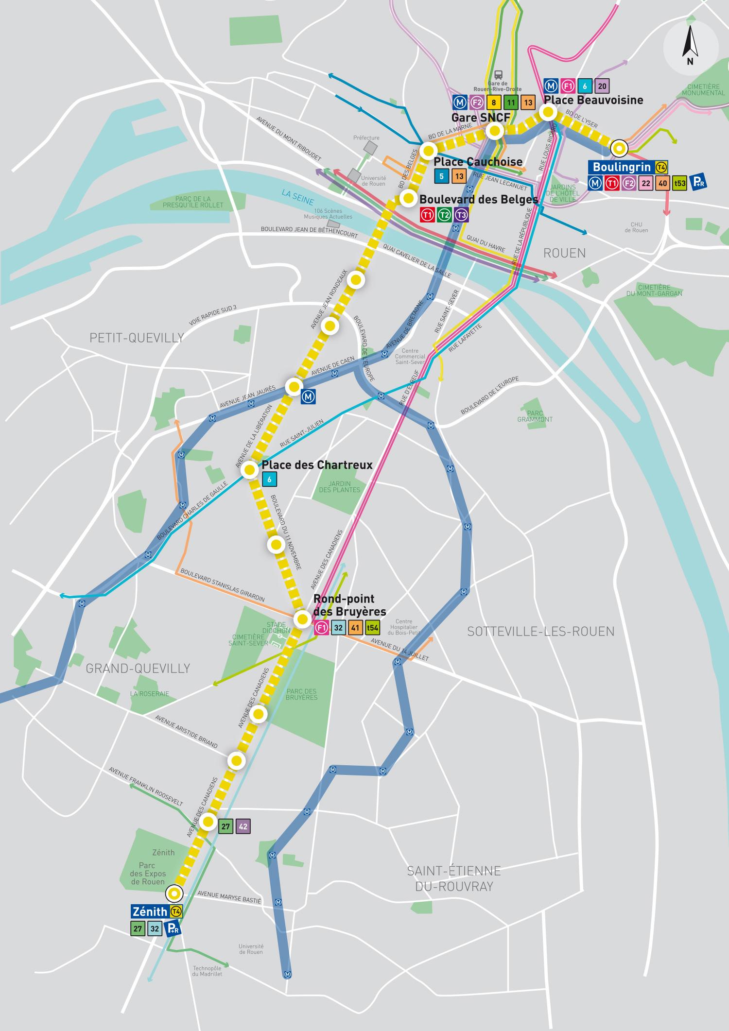 [Bientôt visible sur Google Earth] - Rouen - Démolitions Boulevard d'Orléans et Ligne de tramway T4 Carte_10