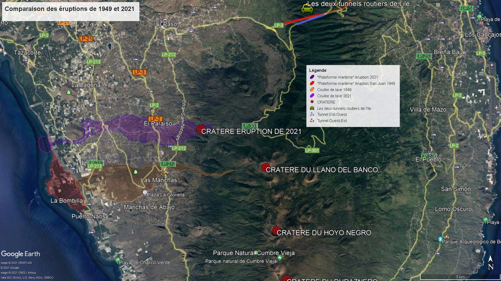Eruption du volcan Cumbre Vieja - Ile de Palma - Canaries Compar10