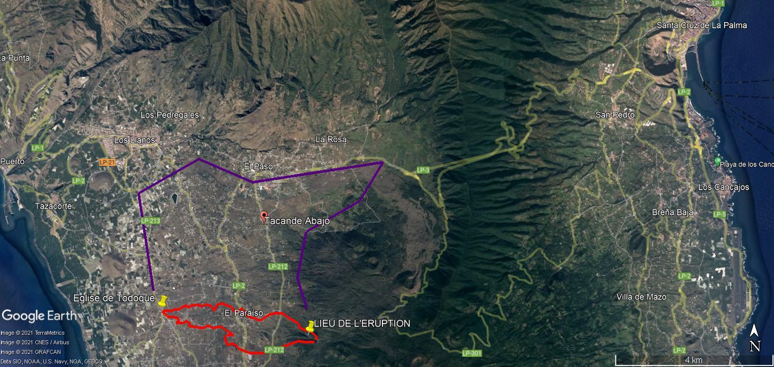 Eruption du volcan Cumbre Vieja - Ile de Palma - Canaries Evacua10