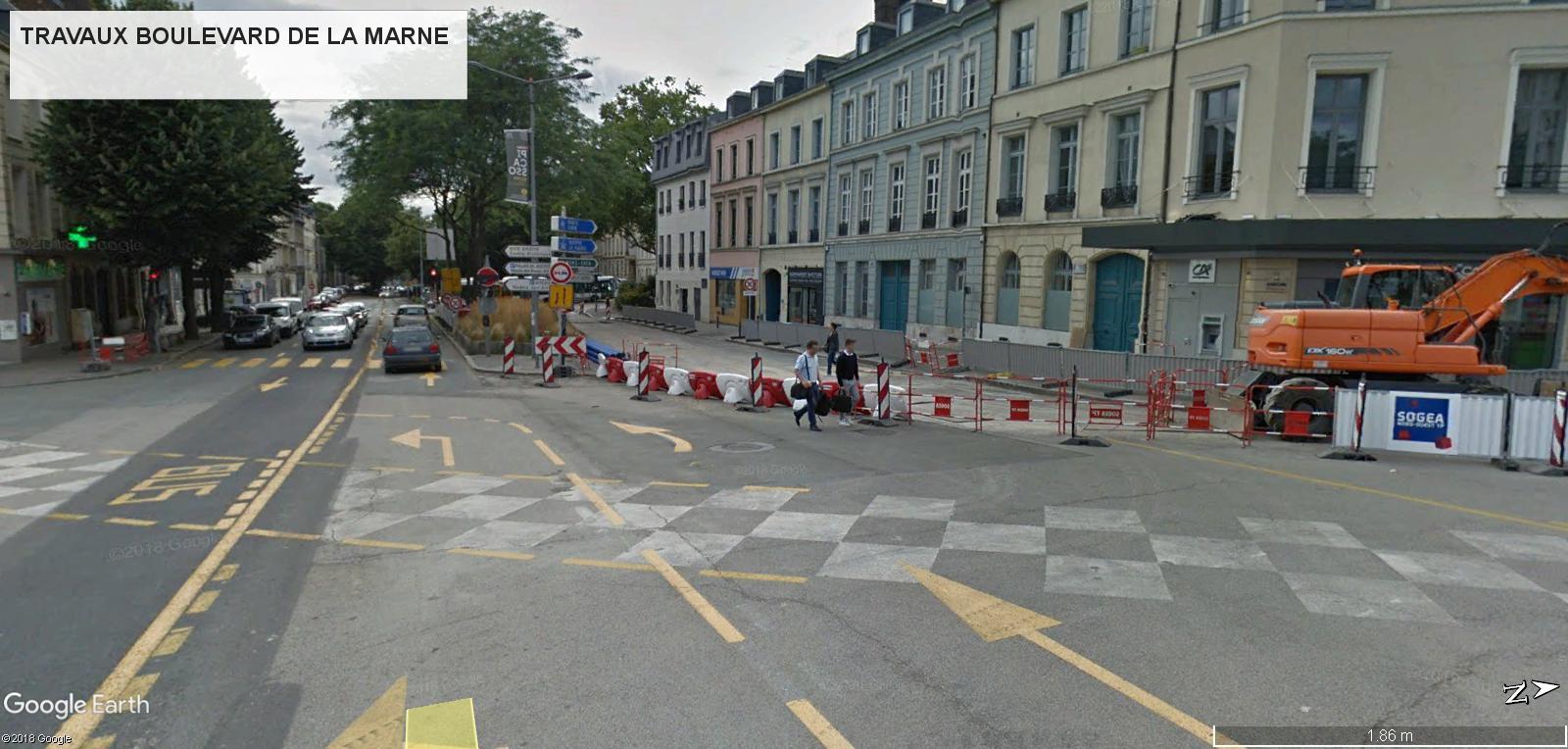 [Bientôt visible sur Google Earth] - Rouen - Démolitions Boulevard d'Orléans et Ligne de tramway T4 Gare10