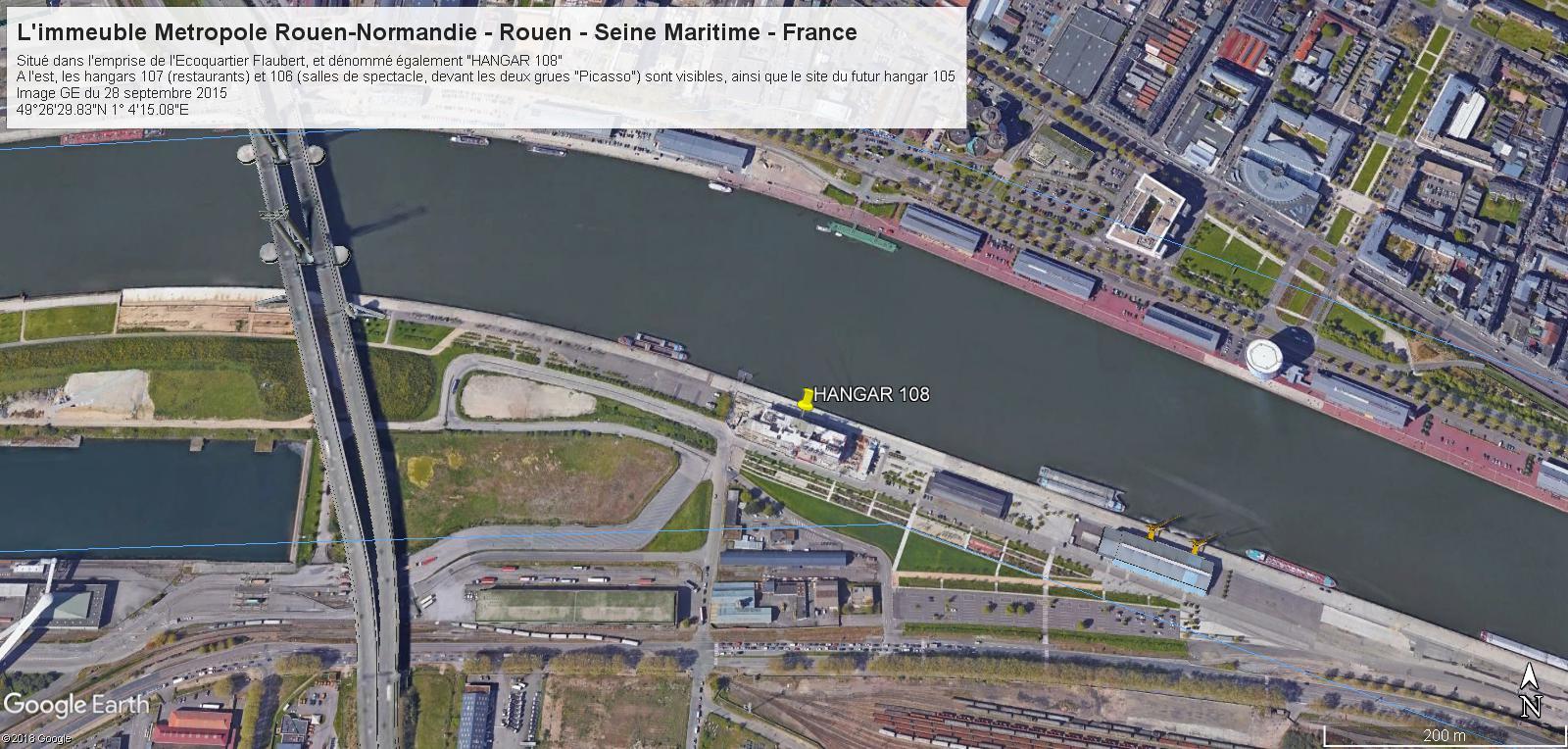 [Bientôt visible sur Google Earth] L'immeuble Metropole Rouen-Normandie - Rouen - Seine Maritime - France H10810