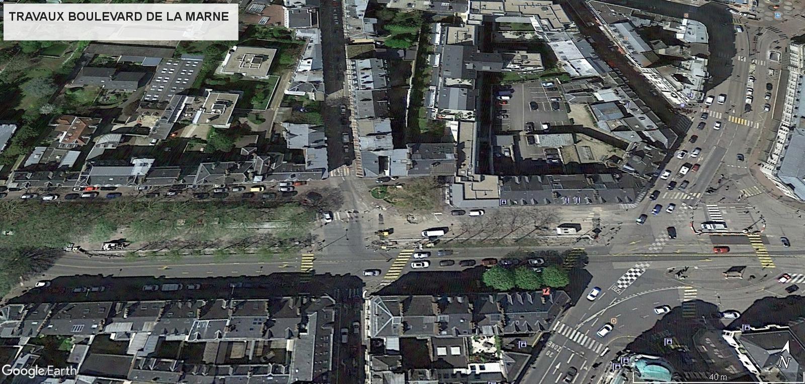 [Bientôt visible sur Google Earth] - Rouen - Démolitions Boulevard d'Orléans et Ligne de tramway T4 Marne10