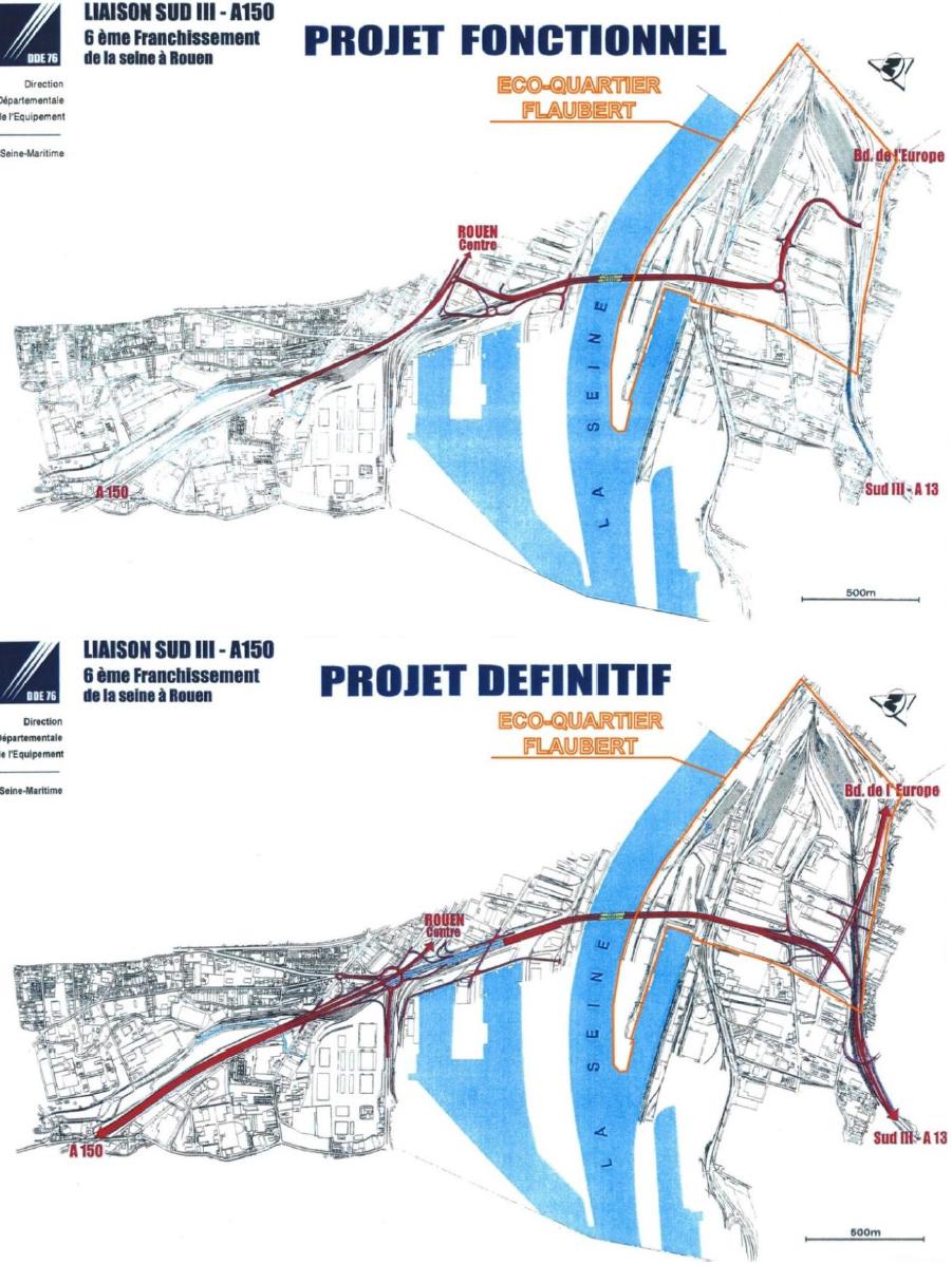 [Bientôt visible sur Google Earth] - Rouen - Ecoquartier Flaubert Pont-a10