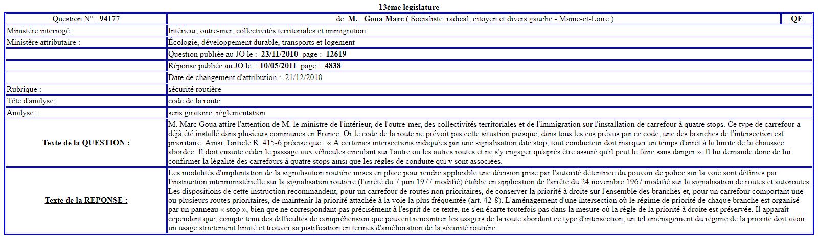 """Croisements problématiques à 4 """"STOP"""" - Page 2 Questi10"""