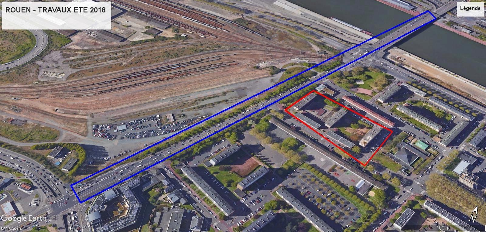 [Bientôt visible sur Google Earth] - Rouen - Démolitions Boulevard d'Orléans et Ligne de tramway T4 Rouen10