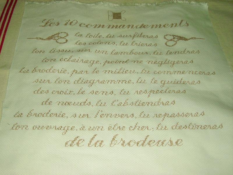 Les 10 commandements de la brodeuse Pochon33
