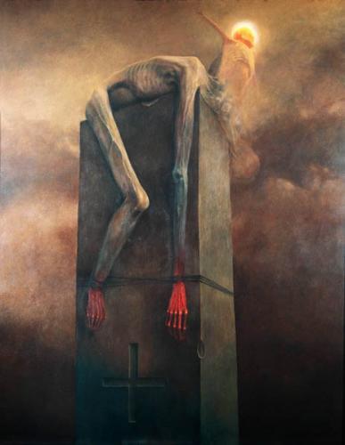 La pintura de Beksinski Cement11