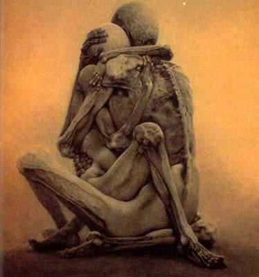 La pintura de Beksinski Erotic11