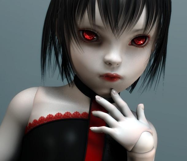 Muñecas Siniestras Goth-o10
