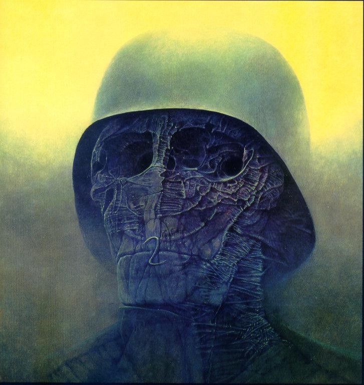 La pintura de Beksinski Guerra10