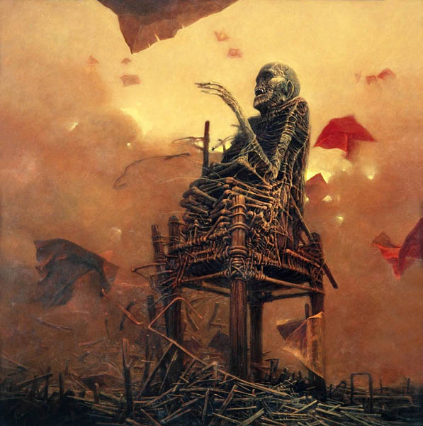 La pintura de Beksinski Terror12