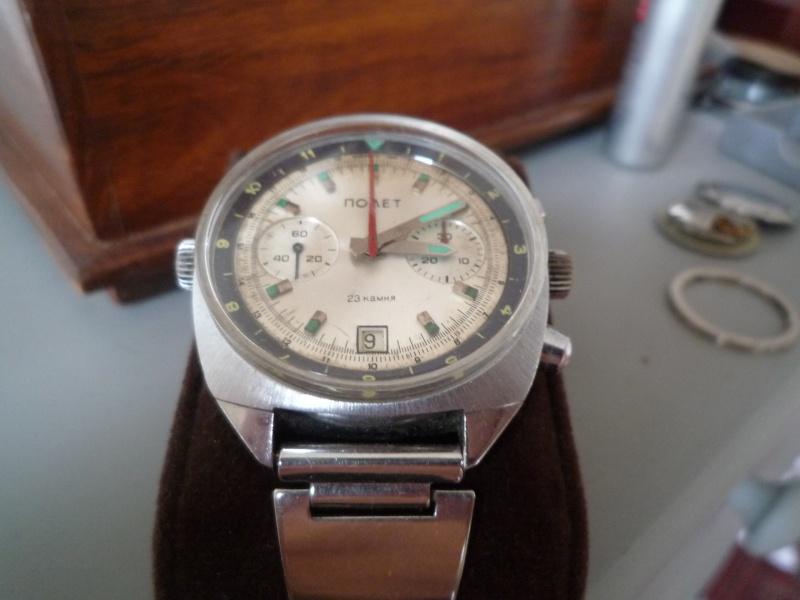Rare chrono Poljot 3133 - Cadran cyrillique fin des années 70, début 80 [VENDU] P1030419