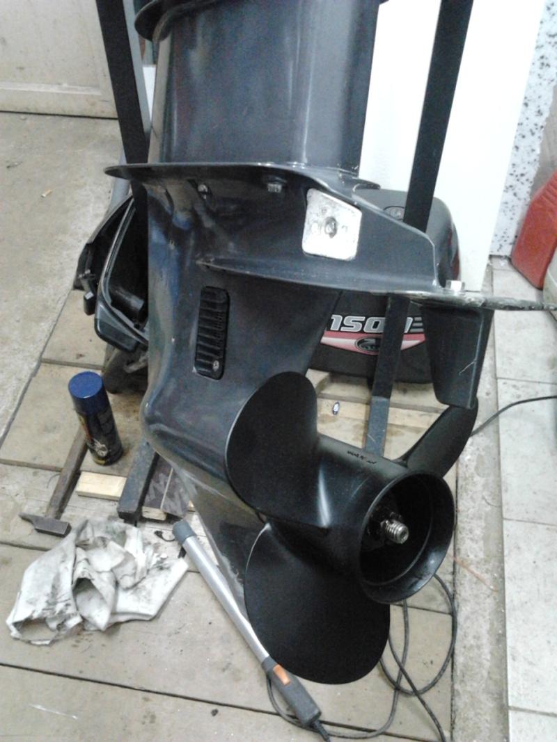 moteur à Astérix - Johnson 35cv 2 temps 1999...3 jours de boulot !! 2012-024
