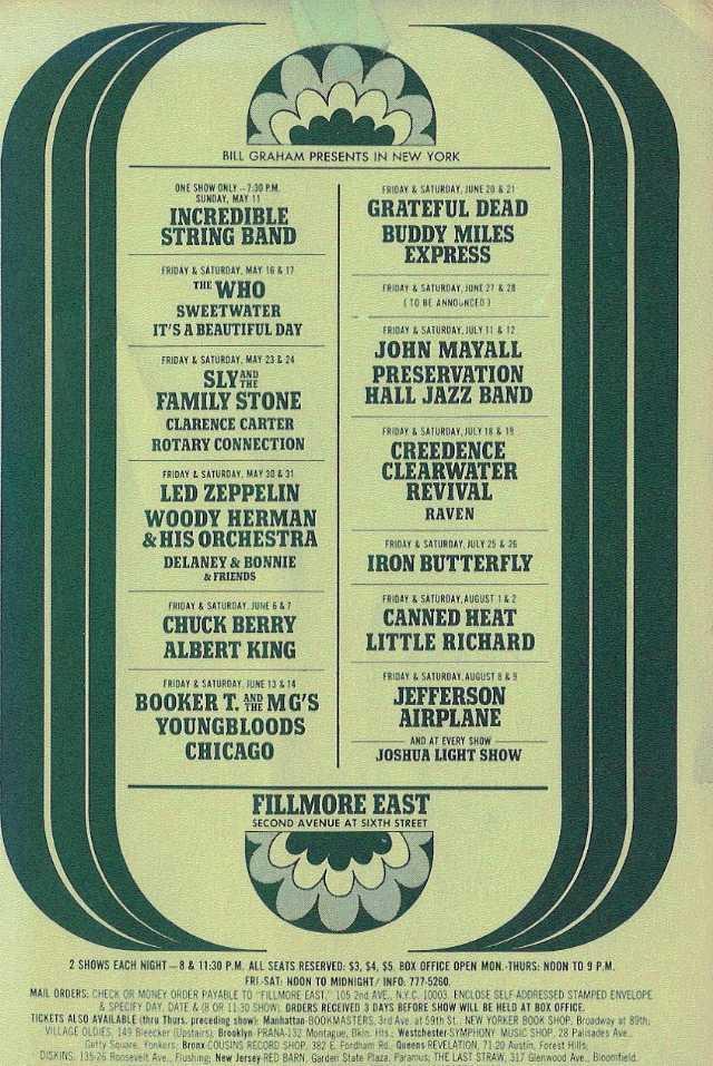 Grateful Dead - Affiches 19690616