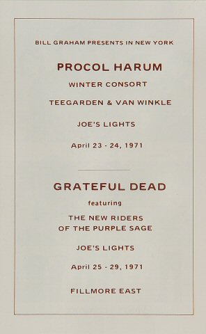 Grateful Dead - Live (1971) 19710411