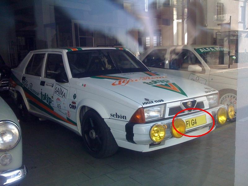 ....HO VISTO UN'ALFA !!   -  FOTO di ALFA  particolari incontrate per caso per  strada o sul web. Targas10