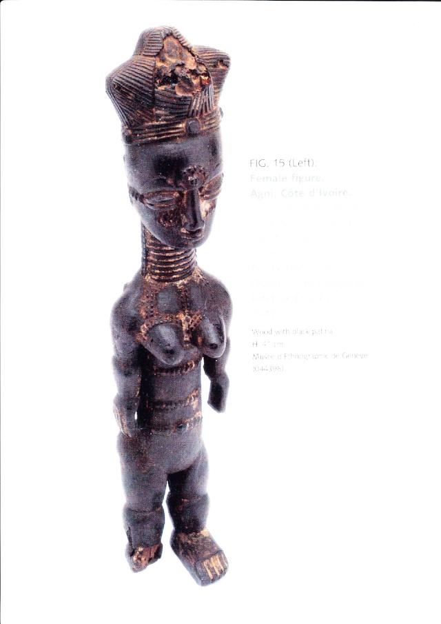 "Anyi or Agni People, Subgroup Alangwa, Female Statue,""Maître des Couronnes"", Southeastern Ivory Coast Agni_m13"