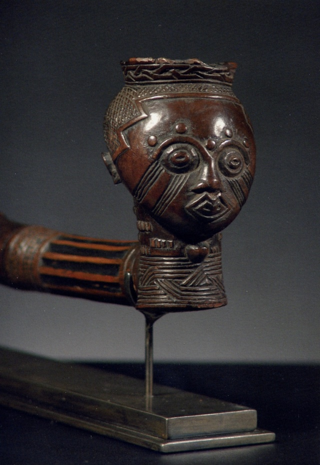 Kuba people, Pipe by the Kingdom Dignitaries, Kasai Area Senza_12