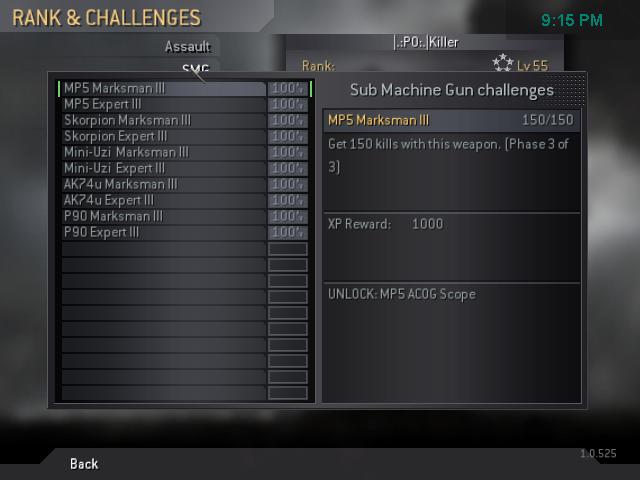 All my gold guns! Cod4mp13