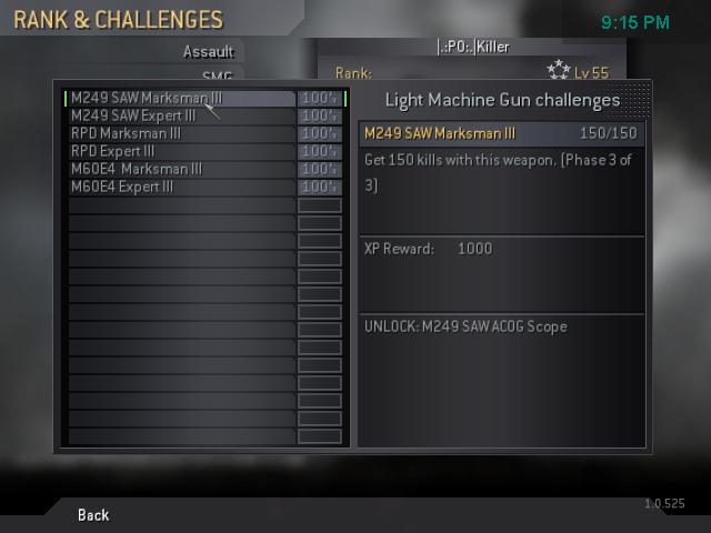 All my gold guns! Cod4mp14