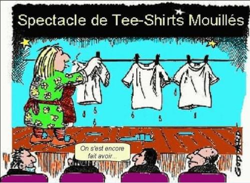 Aaaaahhhh ! les tee shirt mouillés ... Fantasme ultime. Teeshi10