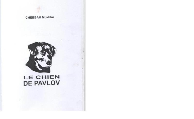 « Le chien de Pavlov » troisième recueil de poésie de Mokhtar Chebbah Chebah10