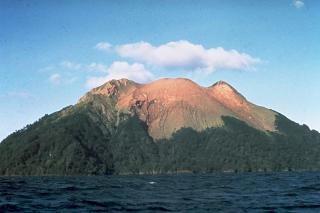 Papua Nueva Guinea terremoto : 314 las personas que viven en la isla del volcán Bam en riesgo extremo Bam-vo10