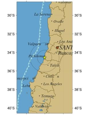 Sismo 4,3 Richter se percibe esta tarde en O´Higgins y El Maule F9071810