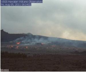 Videos de la actividad (incluyendo el suelo del cráter colapso) en el volcán Kilauea en Hawaii (03/08/2011) Hawaii10