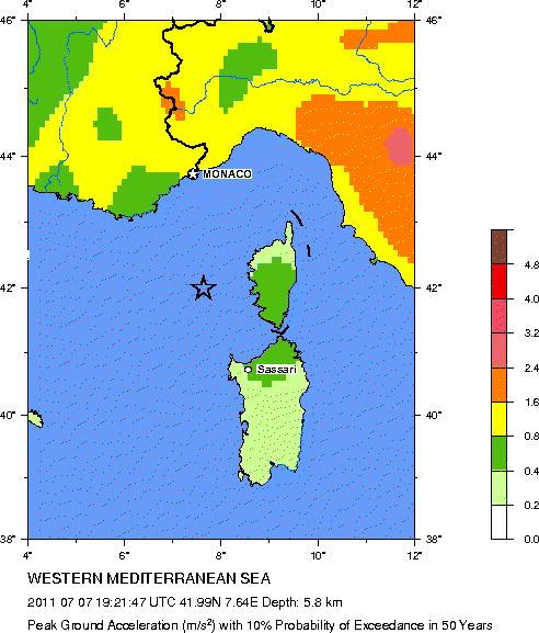 Sismo de moderada intensidad entre Córcega y Francia sacude las zonas costeras Neic_c10
