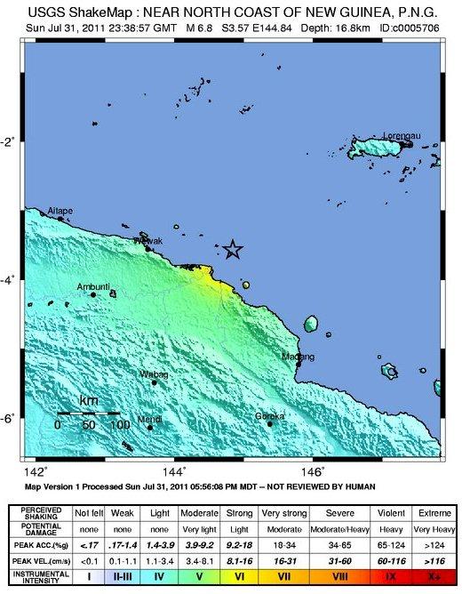 Papua Nueva Guinea terremoto : 314 las personas que viven en la isla del volcán Bam en riesgo extremo Papua-10