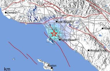"""""""Quake informe de Flash : Terremoto débil sacude el área de Los Angeles Usa-2310"""